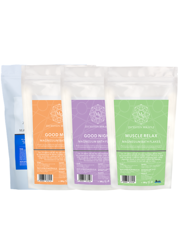 Zechstein Miracle Magnesium Bath Flakes - 4 x 200 g - Pack